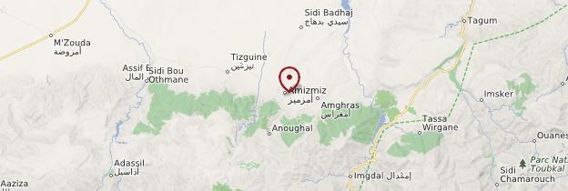 Carte Amizmiz - Maroc
