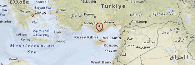 Carte Anamur - Turquie