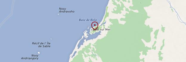 Carte Belo-sur-Mer - Madagascar