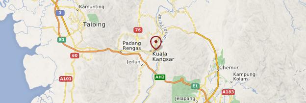 Carte Kuala Kangsar - Malaisie