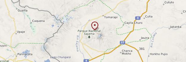 Carte Parc national Sajama - Bolivie