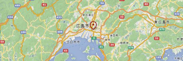 Carte Hiroshima - Japon