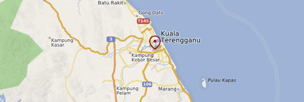 Carte Kuala Terengganu - Malaisie