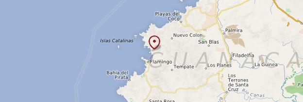 Carte Playa Potrero - Costa Rica