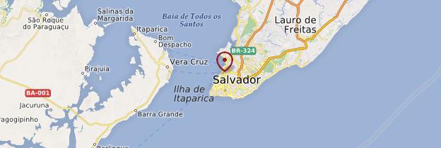 Carte Salvador da Bahia - Brésil
