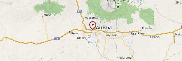 Carte Arusha - Tanzanie