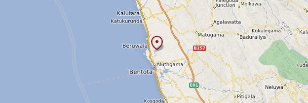 Carte Beruwela - Sri Lanka