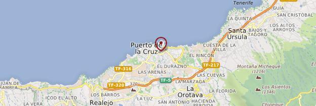 Carte Puerto de la Cruz - Tenerife