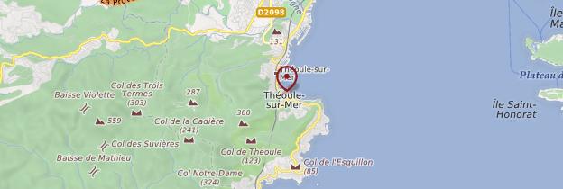 Carte Théoule-sur-Mer - Côte d'Azur