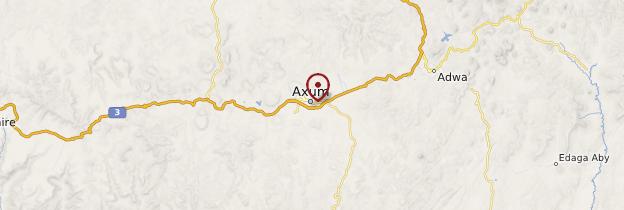 Carte Axoum - Éthiopie