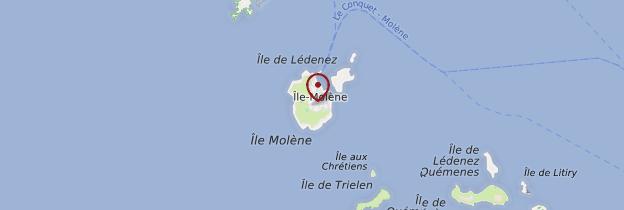 Carte Île de Molène (Molenez) - Bretagne