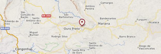 Carte Ouro Preto - Brésil