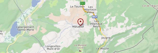 Carte Métabief - Franche-Comté