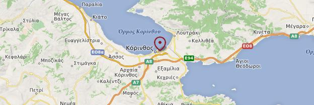 Carte Corinthe - Grèce