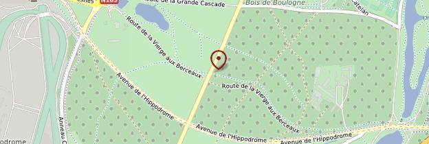 Carte Bois de Boulogne - Paris