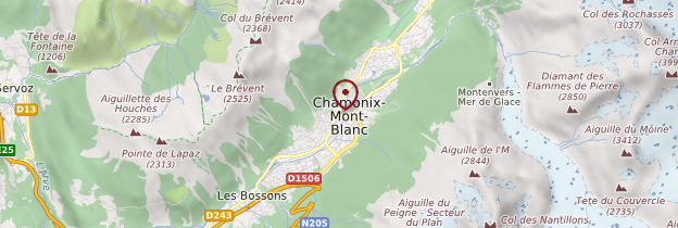 Carte Vallée de Chamonix - Alpes
