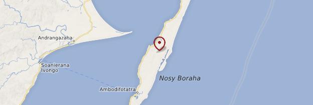 Carte Île Sainte-Marie (Nosy Boraha) - Madagascar