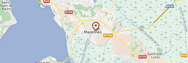 Carte Marennes - Poitou, Charentes
