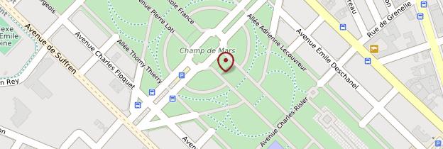 Carte Champ-de-Mars - Paris