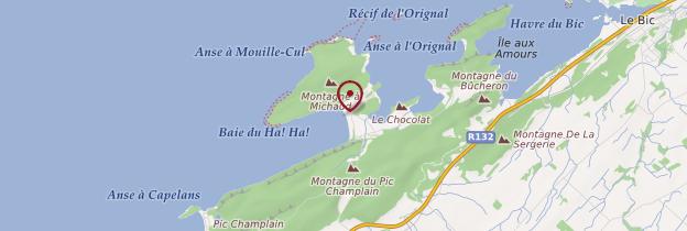 Carte Parc national du Bic - Québec