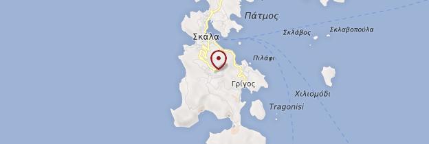 Carte Île de Patmos - Îles grecques
