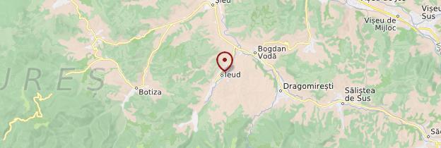 Carte Vallée de l'Iza (valea Izei) - Roumanie