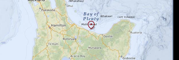 Carte Bay of Plenty - Nouvelle-Zélande