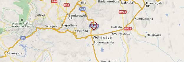 Carte Buduruwagala - Sri Lanka
