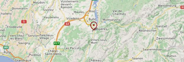 Carte Gruyères - Suisse