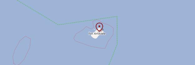 Carte Îlot Amédée - Nouvelle-Calédonie