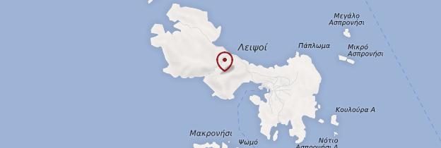 Carte Île de Lipsi - Îles grecques