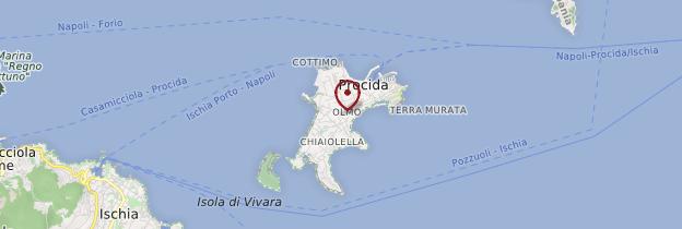 Carte Isola Procida - Naples