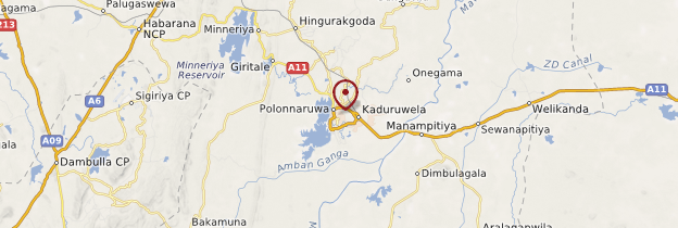 Carte Polonnaruwa - Sri Lanka