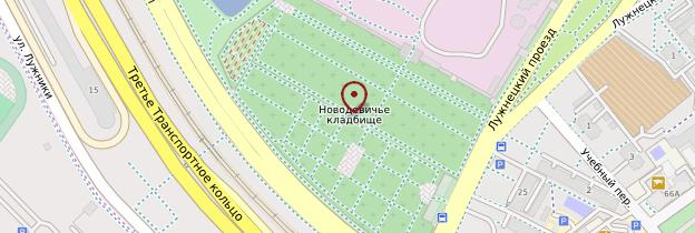 Carte Monastère de Novodievitchi - Moscou