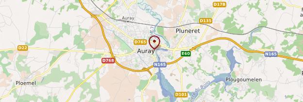 Carte Auray (An Alre) - Bretagne