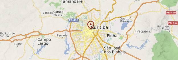 Carte Curitiba - Brésil