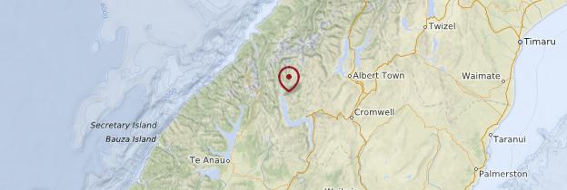 Carte Glenorchy - Nouvelle-Zélande