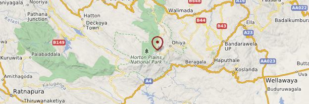 Carte Parc national de Horton Plains - Sri Lanka