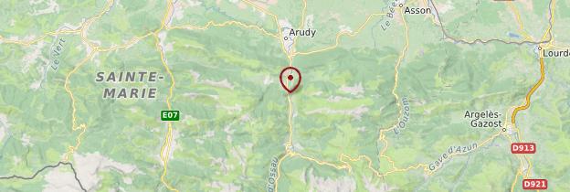 Carte Vallée d'Ossau - Pays basque et Béarn