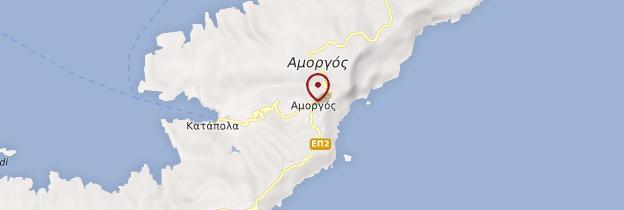 Carte Île d'Amorgos - Îles grecques