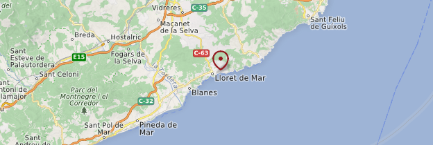 Carte Lloret de Mar - Catalogne