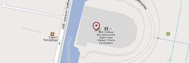 Carte Église du Saint-Sauveur-sur-le-Sang-Versé - Saint-Pétersbourg