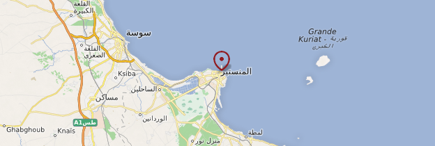 Carte Monastir - Tunisie