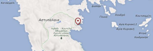 Carte Île d'Astypaléa - Îles grecques