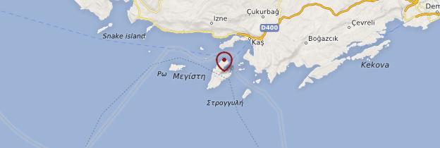 Carte Île de Kastelorizo - Îles grecques