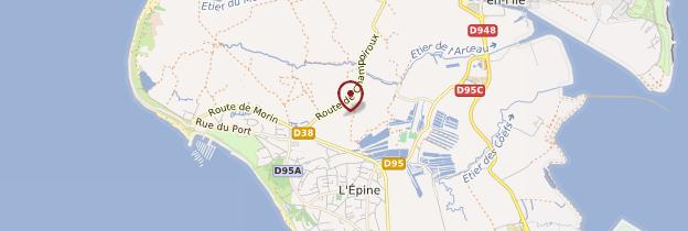 Carte Île de Noirmoutier - Pays de la Loire