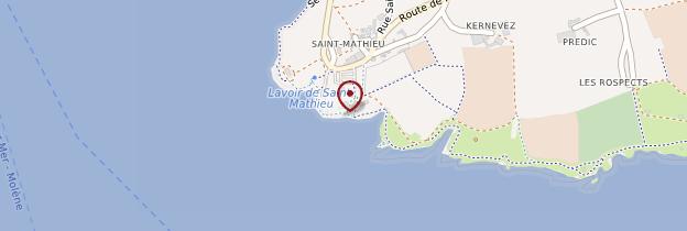 Carte Pointe Saint-Mathieu - Bretagne