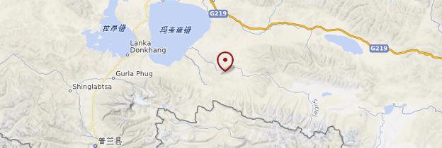 Carte Mont Kailash - Tibet