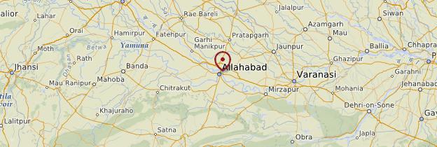 Carte Allahabad - Inde