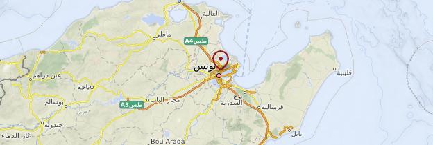 Carte Tunis - Tunisie